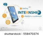 internship word cloud concept...