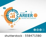 career concept on target icon... | Shutterstock .eps vector #558471580