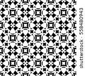 vector monochrome seamless... | Shutterstock .eps vector #558480943