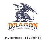dragon logo   vector... | Shutterstock .eps vector #558485464