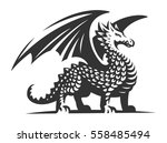 dragon vector illustration ... | Shutterstock .eps vector #558485494