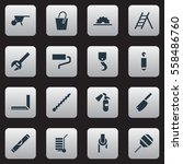 set of 16 editable apparatus... | Shutterstock . vector #558486760