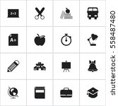 set of 16 editable knowledge... | Shutterstock . vector #558487480