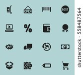set of 16 editable trade icons. ...