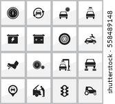 set of 16 editable traffic... | Shutterstock .eps vector #558489148