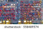 container ship in export and... | Shutterstock . vector #558489574
