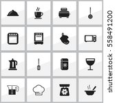 set of 16 editable kitchen...