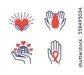 volunteer icons vector set.   Shutterstock .eps vector #558495034