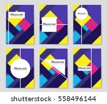 abstract vector layout... | Shutterstock .eps vector #558496144