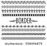set of decorative hand drawn... | Shutterstock .eps vector #558496879