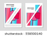 abstract vector layout... | Shutterstock .eps vector #558500140