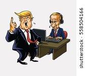 donald trump and vladimir putin ... | Shutterstock .eps vector #558504166