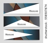 abstract vector layout... | Shutterstock .eps vector #558507874