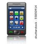 vector smartphone | Shutterstock .eps vector #55850914