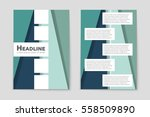 abstract vector layout... | Shutterstock .eps vector #558509890