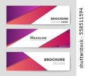 abstract vector layout... | Shutterstock .eps vector #558511594