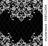 vector lace pattern in eastern... | Shutterstock .eps vector #558512404