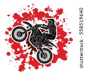 motorcycle cross jumping... | Shutterstock .eps vector #558519640