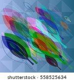 leaf template texture   Shutterstock .eps vector #558525634