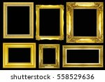 collection of gold vintage... | Shutterstock . vector #558529636