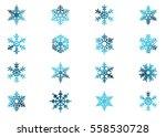 snowflake vector icon... | Shutterstock .eps vector #558530728