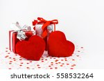 valentines day and gift box and ... | Shutterstock . vector #558532264