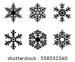 snowflake vector icon... | Shutterstock .eps vector #558532360