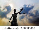 shadow of lady of justice and... | Shutterstock . vector #558533098