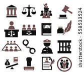 attorney  court  law icon set | Shutterstock .eps vector #558533524