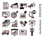 advertising icon set | Shutterstock .eps vector #558533578