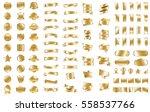 gold ribbon banner label vector ... | Shutterstock .eps vector #558537766