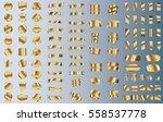 gold ribbon banner label vector ... | Shutterstock .eps vector #558537778