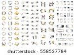 silver ribbon banner label... | Shutterstock .eps vector #558537784