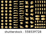 gold ribbon banner label vector ... | Shutterstock .eps vector #558539728
