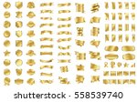 gold ribbon banner label vector ... | Shutterstock .eps vector #558539740