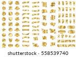 gold ribbon banner label vector ... | Shutterstock .eps vector #558539740