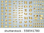 gold banner ribbon label vector ... | Shutterstock .eps vector #558541780