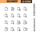 document flat icon set.... | Shutterstock .eps vector #558542890