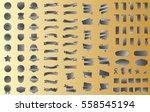 silver banner ribbon label... | Shutterstock .eps vector #558545194