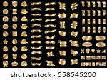gold banner ribbon label vector ... | Shutterstock .eps vector #558545200
