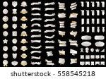 silver banner ribbon label... | Shutterstock .eps vector #558545218