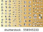 silver banner ribbon label... | Shutterstock .eps vector #558545233