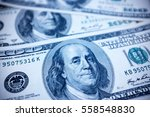 one hundred dollars bills... | Shutterstock . vector #558548830