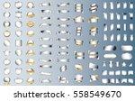label ribbon banner silver... | Shutterstock .eps vector #558549670