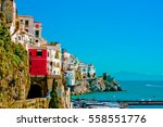 beautiful vibrant colorful view ... | Shutterstock . vector #558551776