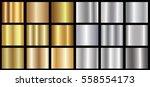 gold silver gradient background ... | Shutterstock .eps vector #558554173