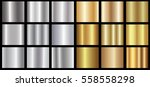 silver gold gradient background ... | Shutterstock .eps vector #558558298