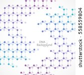 abstract dna background. vector ... | Shutterstock .eps vector #558559804