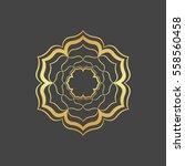 abstract gold hexagonal frame.    Shutterstock .eps vector #558560458