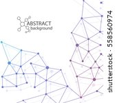 abstract dna background. vector ... | Shutterstock .eps vector #558560974